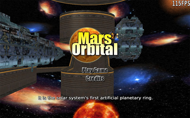 Screenshot from Mars Orbital - 3d platform game