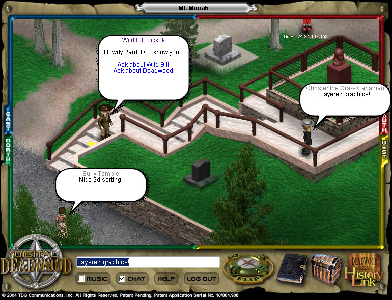 Screenshot from Multiplayer Online Game Engine
