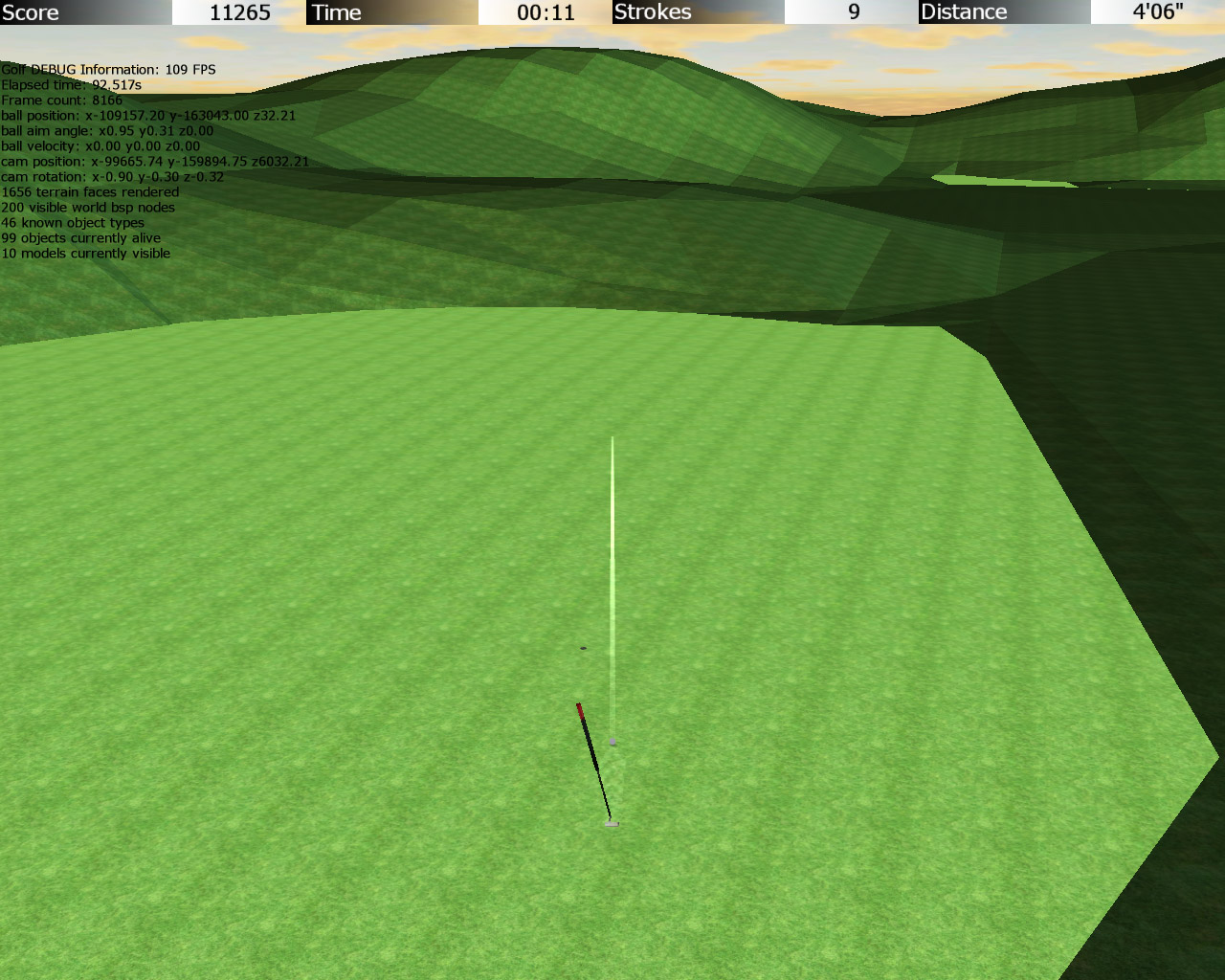 Screenshot from 3d Golf Game