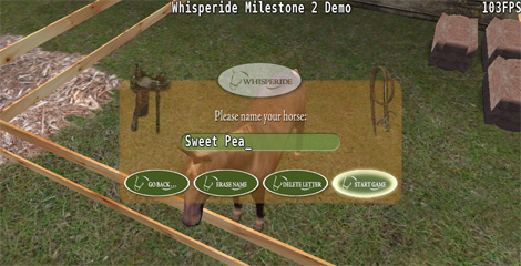 Screenshot from 3d Horseback Trail Ride Game